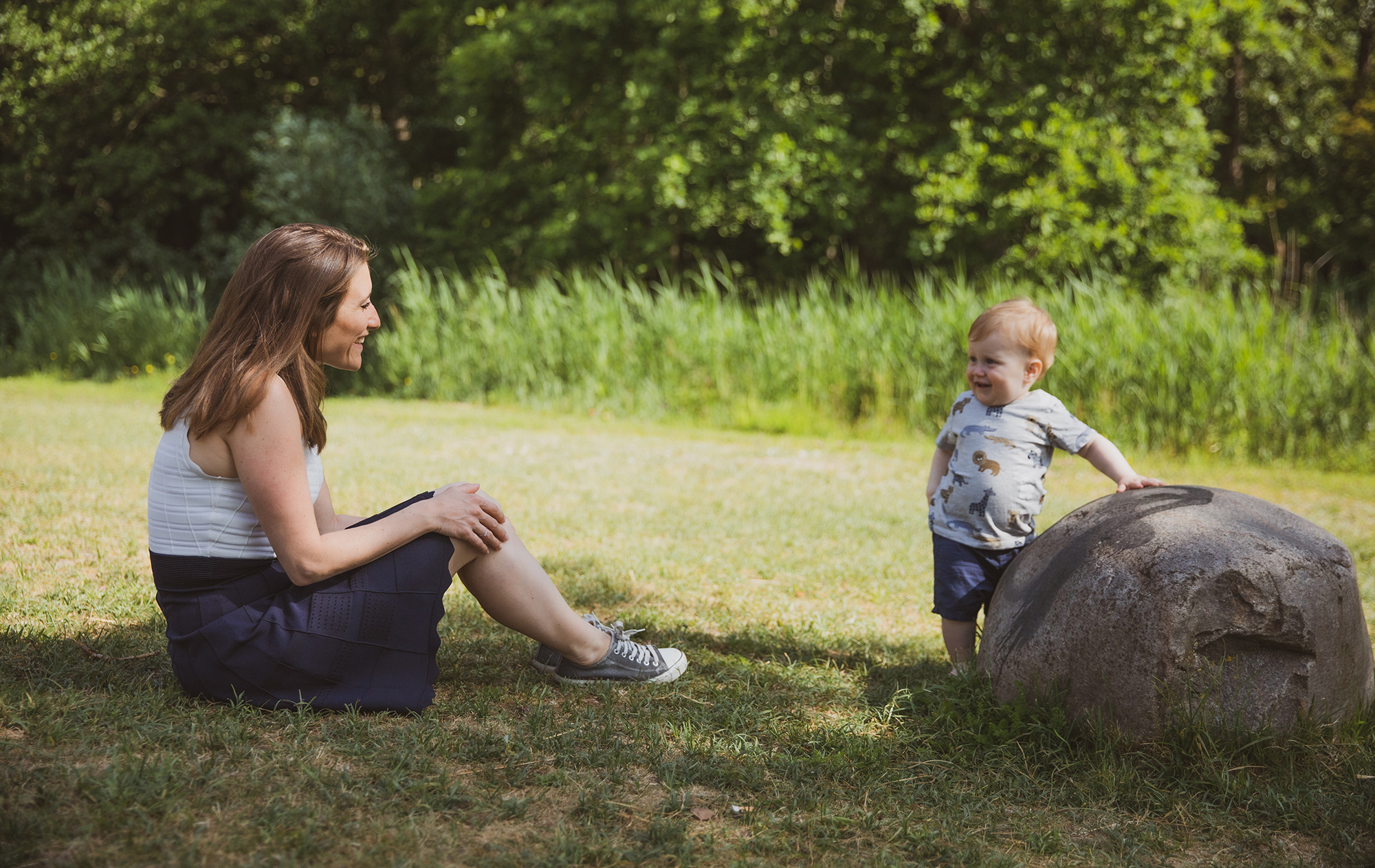 Gezinsfoto, gezinsfotografie of gezinsreportage, moeder en zoon fotografie